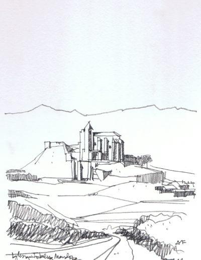 Iglesia - Fortaleza Mendoza_lapiz