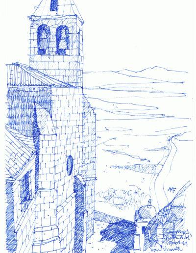 San Vicente-Campanario y puesta de sol